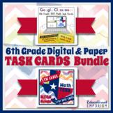 6th Grade TEKS Math Task Cards Digital & Paper MEGA Bundle: Google & PDF Formats