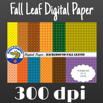 Fall Leaf Digital Paper