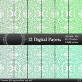 Digital Paper Flower Indian Card Scrap Booking Template Em