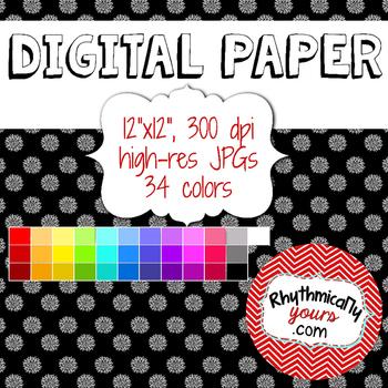 Digital Paper - Flowers
