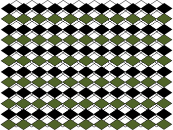 Digital Paper - Forest Green Diamonds