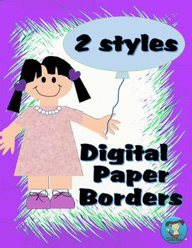 Digital Paper Frames Mixed bundle