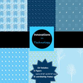 Digital Paper & Frames - Winter