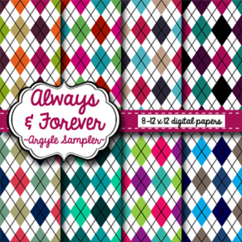 Digital Paper Freebie Argyle