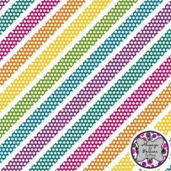 Digital Paper Freebie!  Crazy Fun Polka Dot Diagonals