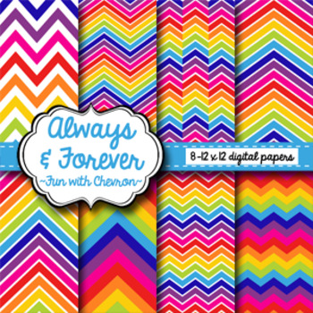 Digital Paper Freebie Fun with Chevron