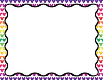 Digital Paper Freebie!  Mickey Mouse Border Frames