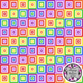 Digital Paper Freebie!  Rainbow Squares