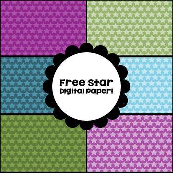 Digital Paper Freebie - Stars Design