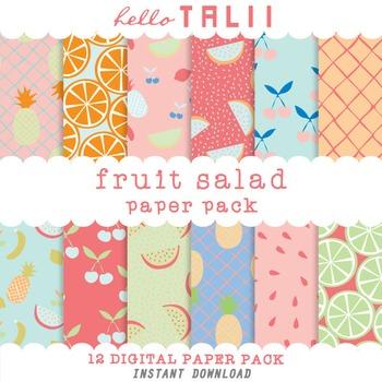 Digital Paper: Fruit Salad