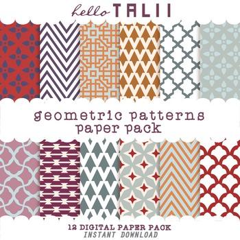 Digital Paper: Geometric Patterns