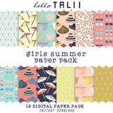 Digital Paper: Girls Summer