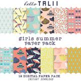 Digital Paper: Girls Summer