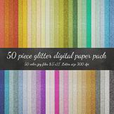 Digital Paper - Glitter Letter Size