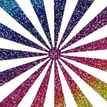 Digital Paper Glitter Medium Burst