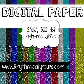 Digital Paper  ~ Glitter Paper ~ Glitter Pack #1