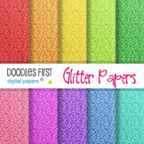 Digital Paper - Glitter Papers great for Classroom art projects