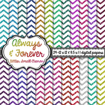 Digital Paper Glitter Small Chevron