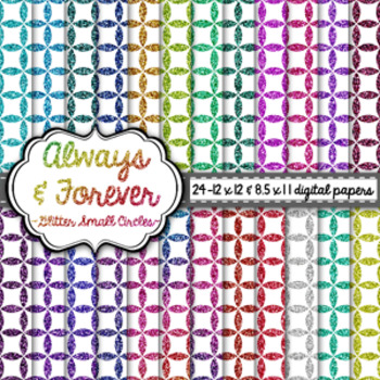Digital Paper Glitter Small Circles