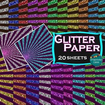 Digital Paper ~Glitter Stripe~ (for commercial use)
