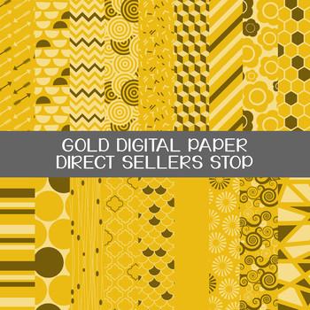 Digital Paper Gold Background Clip Art