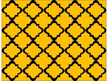 Digital Paper - Gold Moroccan