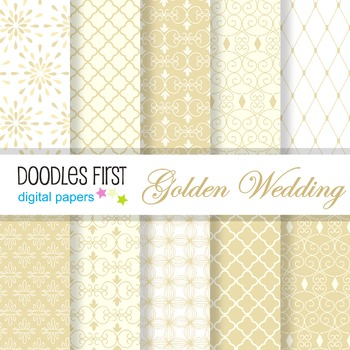 Digital Paper - Golden Wedding great for Classroom art projects