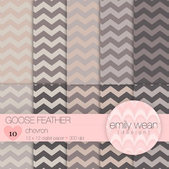 Goose Feathers - Digital Paper - Chevron