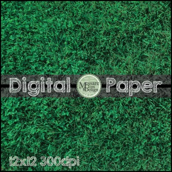 Digital Paper Grass Background Texture {Messare Clips and Design}