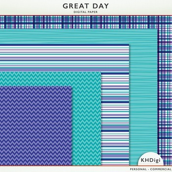 "Digital Paper - ""Great Day"" Blue & Purple"