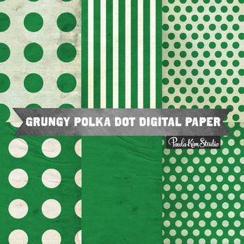 Digital Paper - Green Grungy Backgrounds