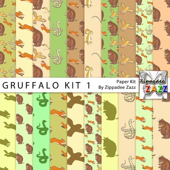 DOLLAR DEAL Digital Paper - Gruffalo Digital Paper Kit 1 -
