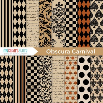 Digital Paper - Halloween / Obscura Carnival