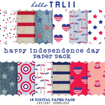 Digital Paper: Happy Independence Day
