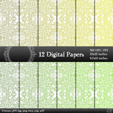 Digital Paper Henna Graphics Page Texture Book Set Making