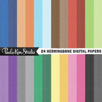 Digital Paper - Herringbone