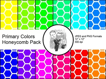 Digital Paper - Honeycomb Primary Colors