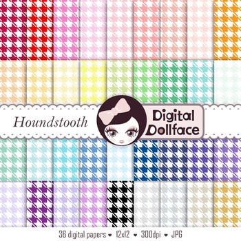Digital Paper - Houndstooth