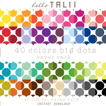 Digital Paper: Huge Dots+ Gold and Silver Dots
