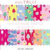 Digital Papers: Ice Cream Party