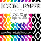 Digital Paper - Ikat Patterns