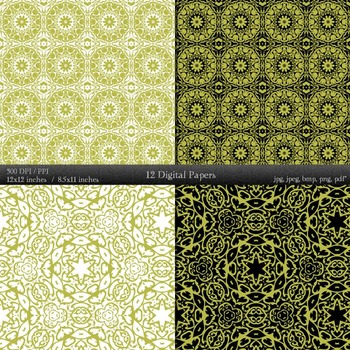 Digital Paper Instant Download Lace Layout Album Jpeg Abstract Pattern Collag A4