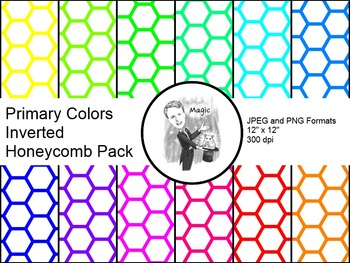 Digital Paper - Inverted Honeycomb Primary Colors