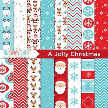 Digital Paper - Jolly Christmas!