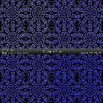 Digital Paper Journal Digital Ornate Set Art Cover Piecing Decorative Vintage A4