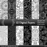 Digital Paper Journal Sheet Scrapbook Layout Kit Style Man