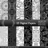 Digital Paper Journal Sheet Scrapbook Layout Kit Style Man