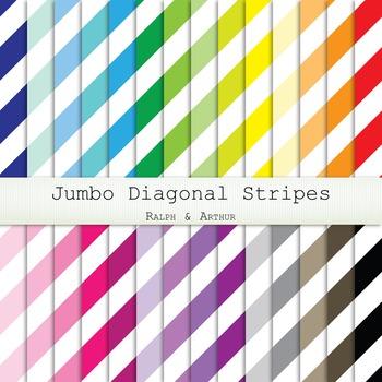Digital Paper - Jumbo Diagonal Stripes