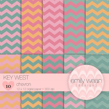 Key West - Digital Paper - Chevron