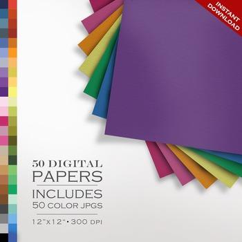 Digital Paper - Laid Paper Texture Pack